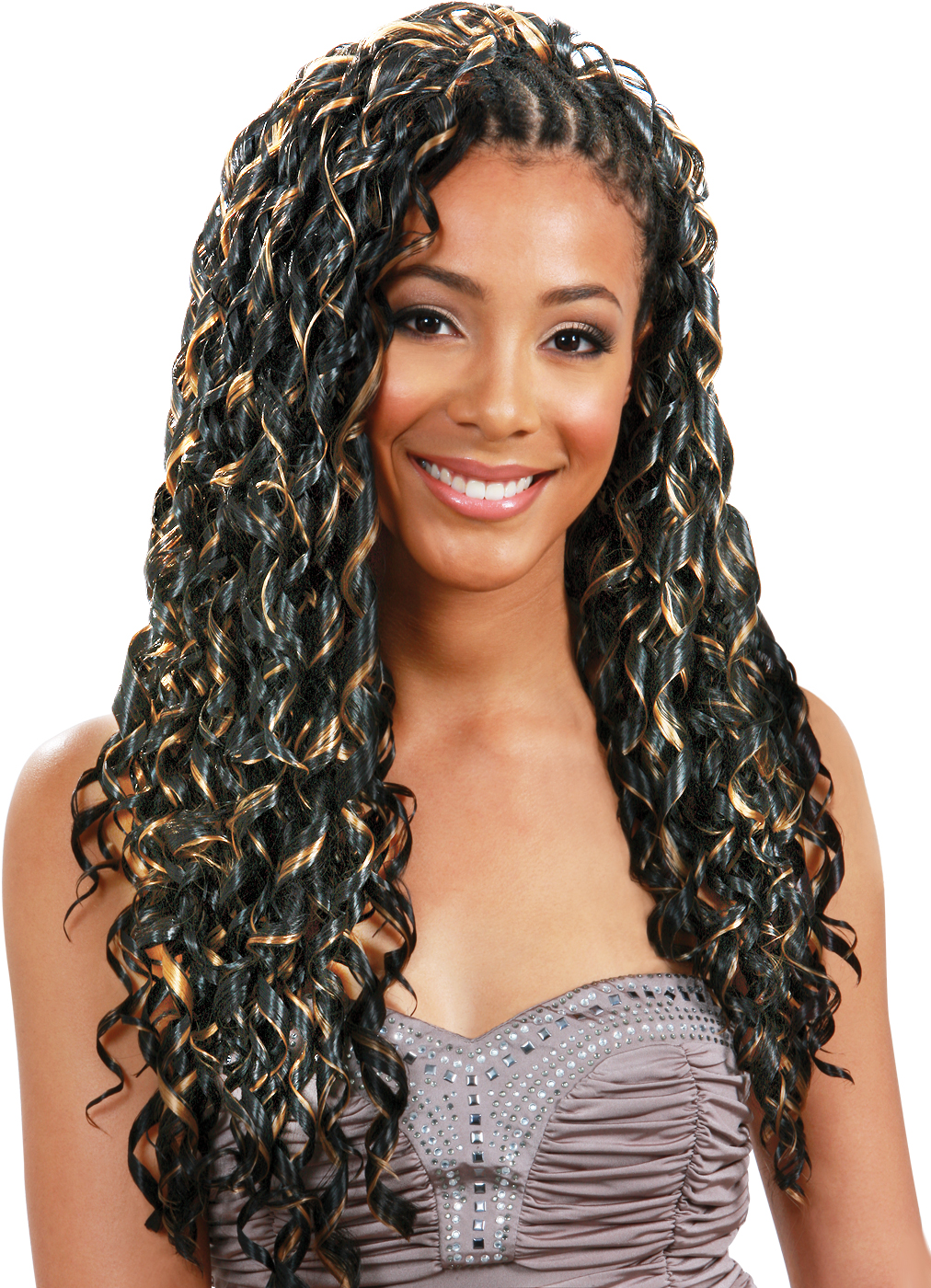 Crochet Box Braids Bobbi Boss : model dual braid tape curl class braid color shown length shown ...